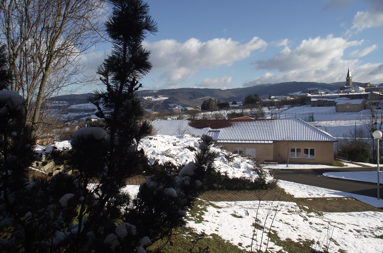 Bessenay sous la neige